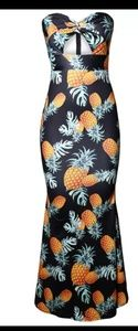 Dresses & Skirts - Maxi dress  black pineapples